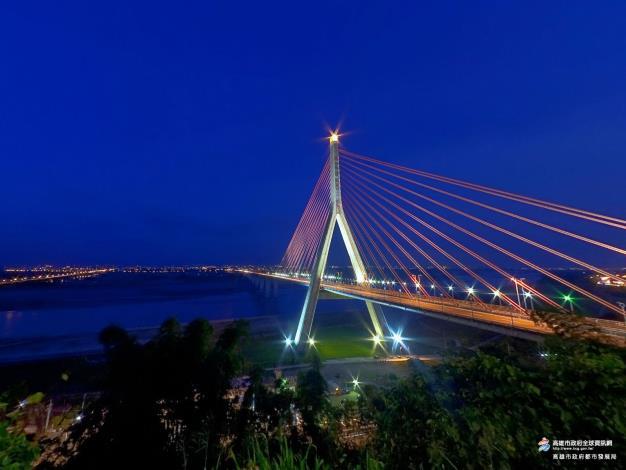高屏溪斜張橋(夜)