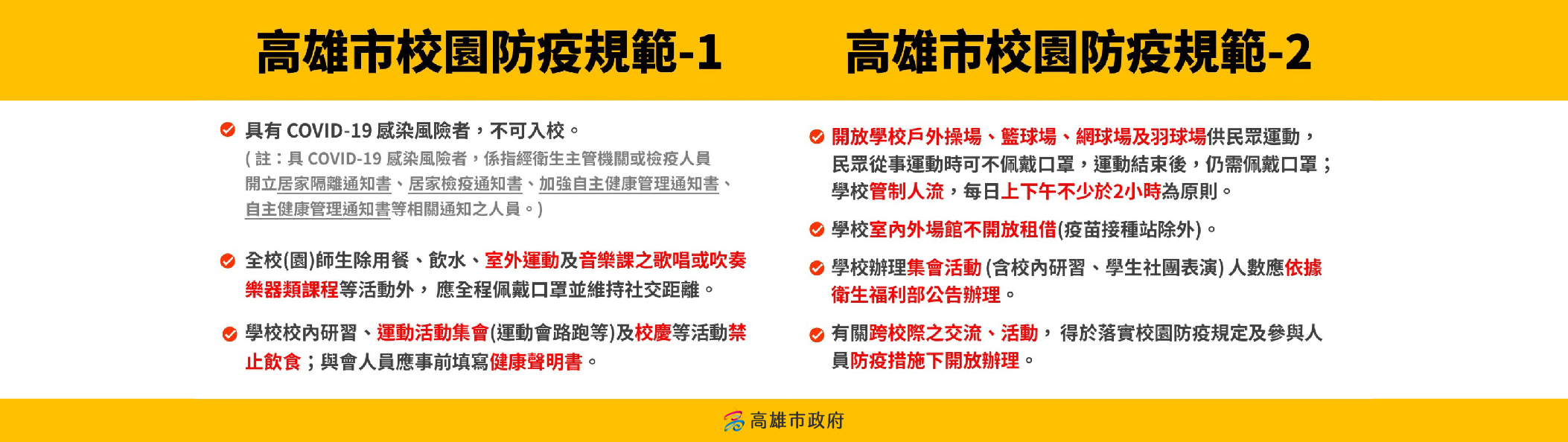 校園防疫規範12