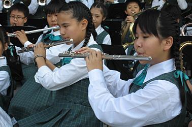 Student wind instrument performance
