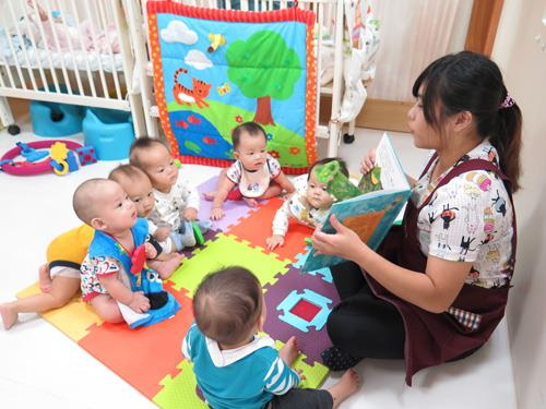 Public day care center – daycare staff telling stories