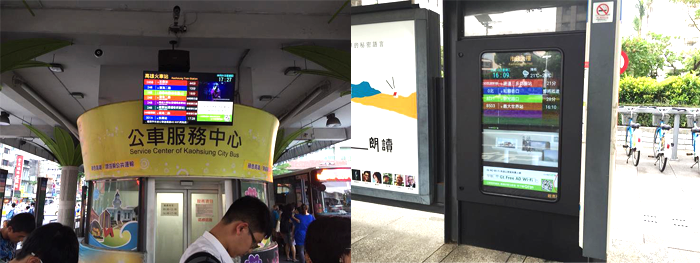 outdoor bus information LED boards